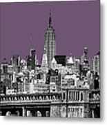 The Empire State Building Plum Metal Print
