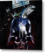 The Empire Strikes Back Phone Case Metal Print