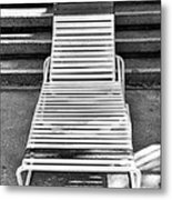 The Empty Chaise Palm Springs Metal Print