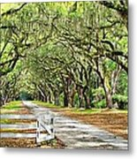 The End Of The Alley Metal Print