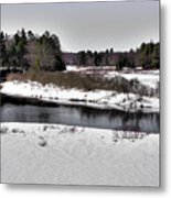 The End Of Winter On The Moose River Metal Print