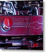 The Engine In A 1956 Chevy Bel Air Custom Hot Rod Metal Print by David Patterson