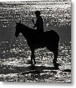 The Equestrian-silhouette Metal Print