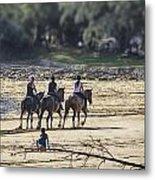 The Equestrians   Metal Print