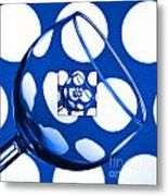 The Eternal Glass Blue Metal Print