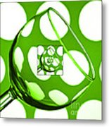 The Eternal Glass Green Metal Print