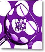 The Eternal Glass Purple Metal Print