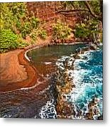 The Exotic And Stunning Red Sand Beach On Maui Metal Print