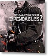 The Expendables 2 Schwarzenegger Metal Print