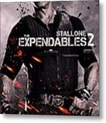 The Expendables 2 Stallone Metal Print