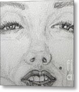the eyes of Marilyn Metal Print