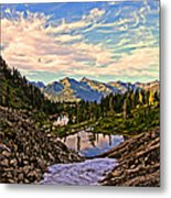 The Eyes Of The Mountain. Metal Print