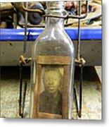 The Face In The Bottle  Metal Print