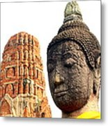 The Face Of A Buddha Metal Print