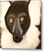 The Face Of A Lemur Metal Print