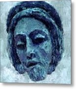 The Face Of Blue Metal Print