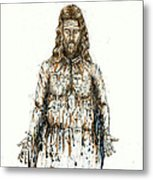 The Faces Of  Body Of Jesus Christ Metal Print
