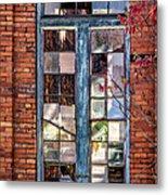 The Factory Window Metal Print