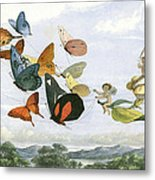 The Fair Queen Takes And Airy Drive In Fairy Land Metal Print by Unknown