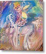 The Fairy And The Unicorn  Metal Print
