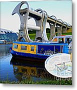 The Falkirk Wheel Metal Print