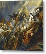 The Fall Of Phaeton Metal Print by  Peter Paul Rubens