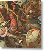 The Fall Of The Rebel Angels, 1562 Oil On Panel Detail Of 74037 Metal Print