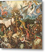 The Fall Of The Rebel Angels, 1562 Oil On Panel Metal Print
