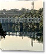 The Falls Bridge Over The Schuylkill River Metal Print