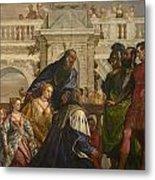 The Family Of Darius Before Alexander Metal Print