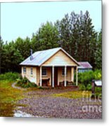 The Famous Cabin Of Fannie Quigley Metal Print