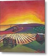 'the Farm' Metal Print