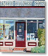The Farmer's Country Store Metal Print