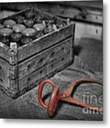 The Farmer's Milk Crate  Metal Print