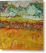 The Farmland Oil On Canvas Metal Print