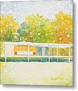 The Farnsworth House Metal Print