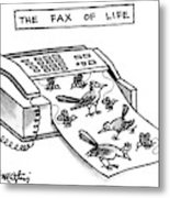 The Fax Of Life Metal Print