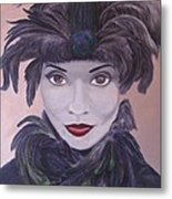 The Feathered Lady Metal Print