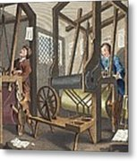 The Fellow Prentices At Their Looms Metal Print