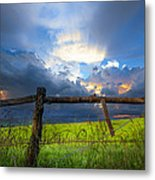 The Fence At Cades Cove Metal Print