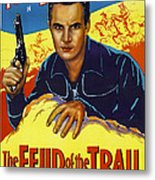 The Feud Of The Trail, Us Poster, Tom Metal Print