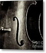 The Figure Of A Cello Metal Print