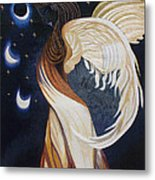 The Final Eclipse Before The Millenium Hand Embroidery  Metal Print