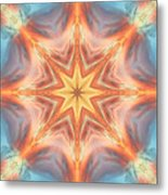 The Fire From Within Mandala Metal Print