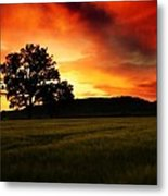 the Fire on the Sky Metal Print