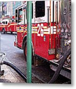 The Fire Truck Metal Print
