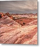 The Fire Wave Metal Print