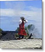 The Firing Of The Cannon 2 Metal Print