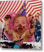 The First Birthday Cake Metal Print