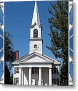 The First Church Of Evans In New York State Metal Print